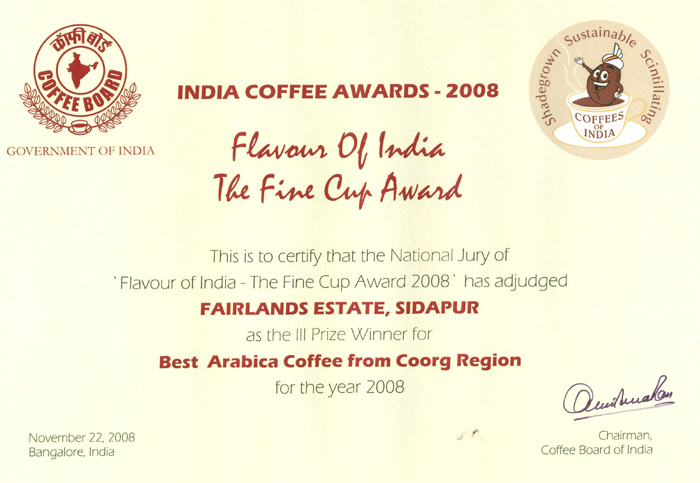 coffee association in india
